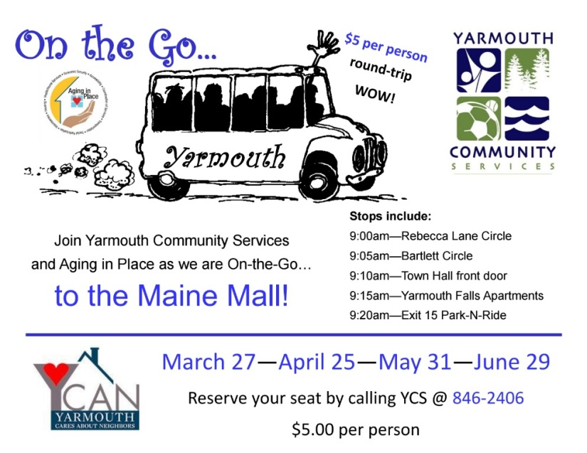 Next $5 Bus Trip to Maine Mall: 5/31