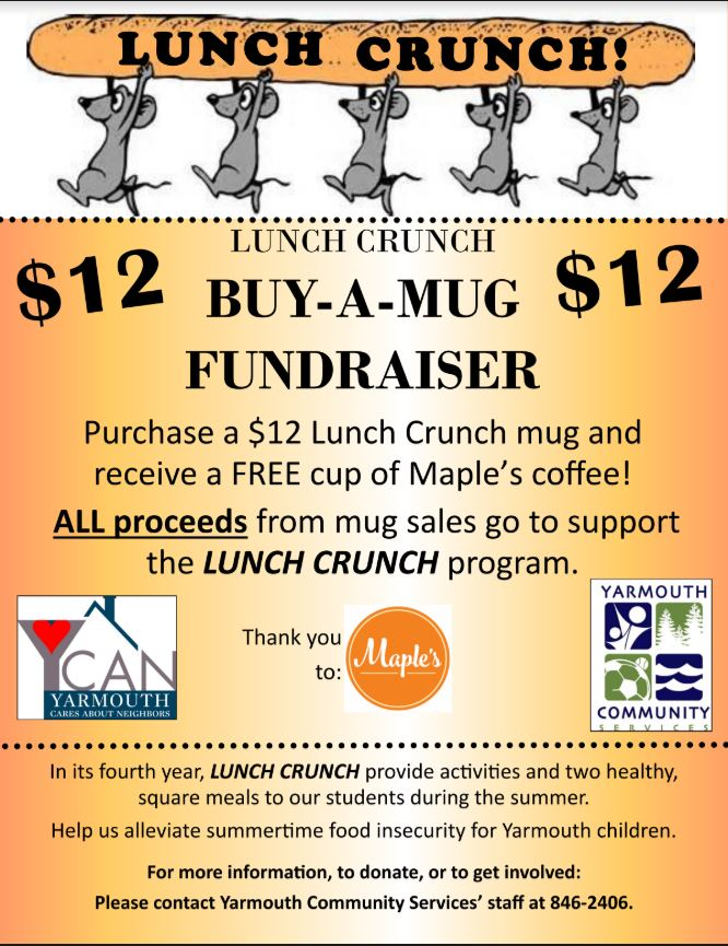 May 2018: Lunch Crunch Buy-A-Mug Fundraiser